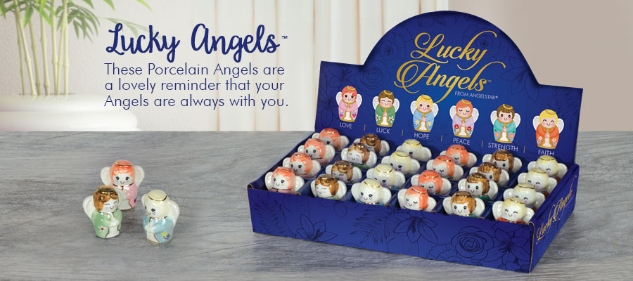 Lucky Angels - These Porcelain Angels are a lovely reminder that your Angels are always with you.