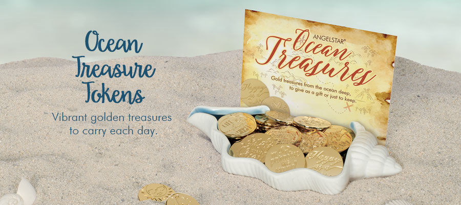 Ocean Treasure Tokens - Vibrant golden treasures to carry each day.