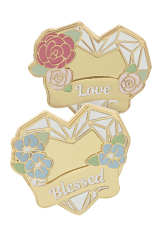 Heart Of AngelStar Lapel Pins