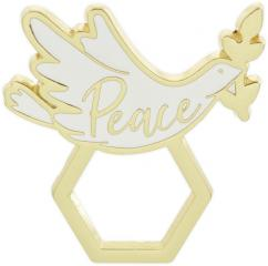Golden Inspirations Peace Eyeglass Holder