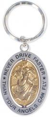 Never Drive Faster Key Chain