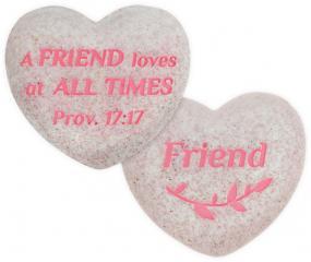 Heart of AngelStar Pocket Stone - Friend