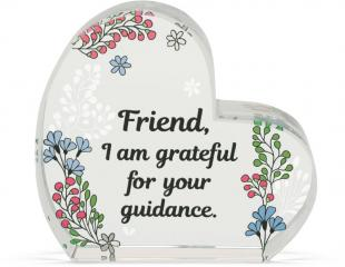 Heart of AngelStar Glass Plaque - Friend