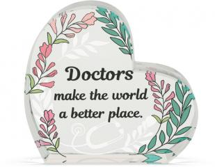 Heart of AngelStar Glass Plaque - Doctor