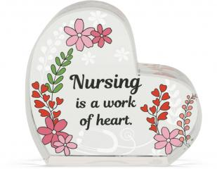 Heart of AngelStar Glass Plaque - Nurse