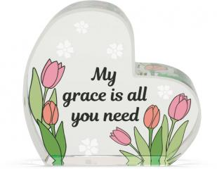 Heart of AngelStar Glass Plaque - Grace
