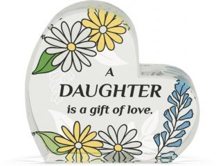 Heart of AngelStar Glass Plaque - Daughter