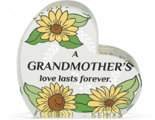 Heart of AngelStar Glass Plaque - Grandmother