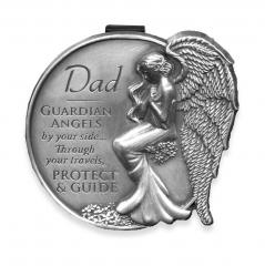 Dad Guardian Angel Visor Clip