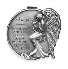 Daughter Guardian Angel Visor Clip