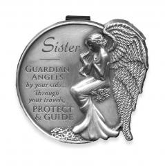 Sister Guardian Angel Visor Clip