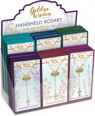 Golden Wisdom Handheld Rosary Assortment