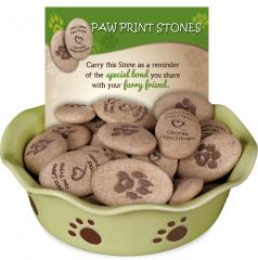Paw Print Stone 48 Piece Assortment
