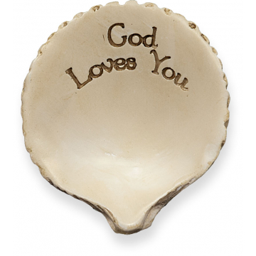God Loves You Message Shell