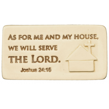 Serve The Lord Scripture Tile
