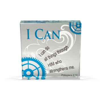 I Can - Clearly Inspired Glass Decor Plaque