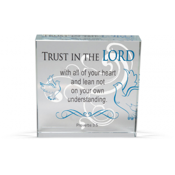 Trust in the Lord - Clearly Inspired Glass Decor Plaque