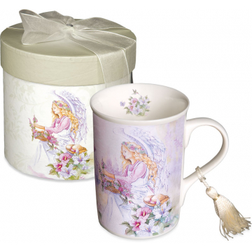 Angel with Butterflies Porcelain Mug