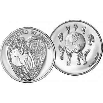 """Protected by Angels """"Earth Angel"""" Angel Coin"""