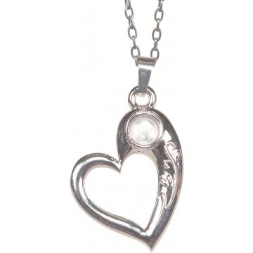 Serenity Prayer Heart Magnifier Pendant