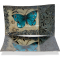 """Blue Butterfly 12"""" Rectangle Plate"""