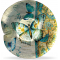 """Radiant Butterfly 15 1/2"""" Round Plate"""
