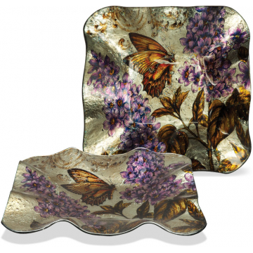 """Majestic Monarch 6 1/2"""" Square Plate"""