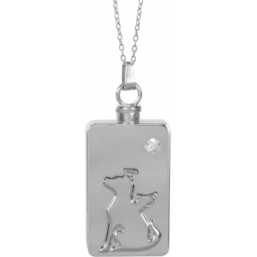Dog Angel Keepsake Pendant