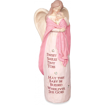 New Baby Pink Jewels of Faith Figurine
