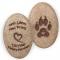Dog Paw Print Stone