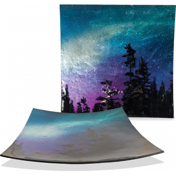 """Northern Lights 13"""" Square Plate"""