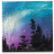 "Northern Lights 4"" Cozenza Glass Coaster Set"