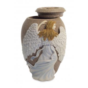 Angels Embrace Sand Stone Urn