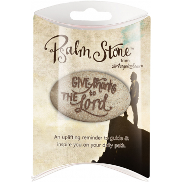 Psalm 107:1 Pillow Packed Stone