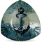 """Anchors Aweigh 8"""" Triangle Plate"""