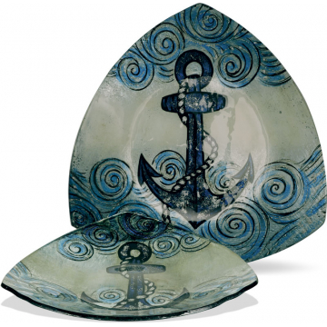 """Anchors Aweigh 14"""" Triangle Plate"""
