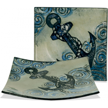 """Anchors Aweigh 5 1/2"""" Square Plate"""