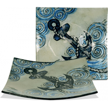 """Anchors Aweigh 7 1/2"""" Square Plate"""
