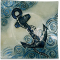 """Anchors Aweigh 9 1/2"""" Square Plate"""