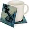 "Anchors Aweigh 4"" Cozenza Glass Coaster Set"