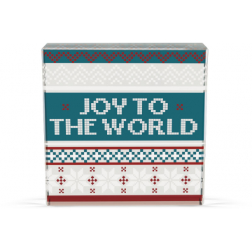 Christmas Sweater Glass Decor Plaque - Joy to the World