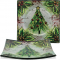 Christmas Tree Glass 3 Piece Plate Set