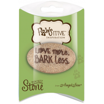 Love More Bark Less Pawsitive Inspiration Pillow Packed Stone