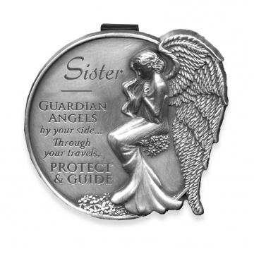 Sister Guardian Angel Visor Clip