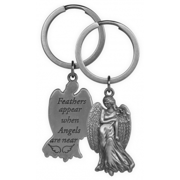Guardian Angel Key Chain - Feathers Appear when Angels are Near