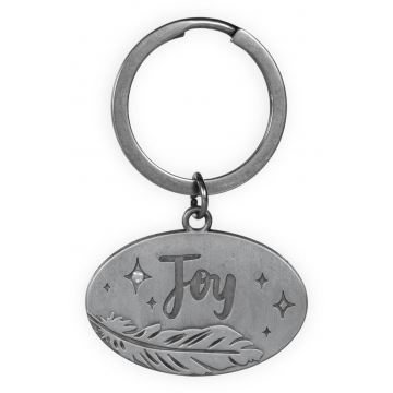 Guardian Angel Feather Key Chain - Joy