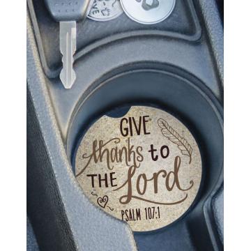 Psalm 107:1 - Psalm Auto Coaster