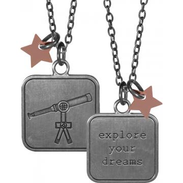 Aunt Birdie Charm Pendant - Explore Your Dreams