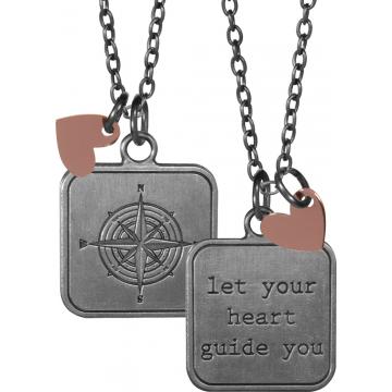 Aunt Birdie Charm Pendant - Let Your Heart Guide You
