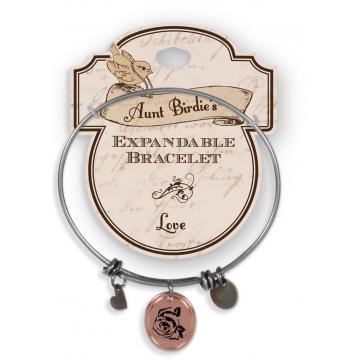 Aunt Birdie Charm Bracelet - Love
